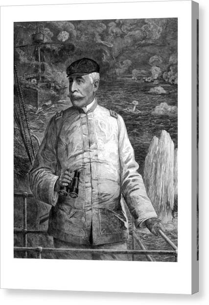 Battleship Canvas Print - Admiral Dewey At Sea by War Is Hell Store