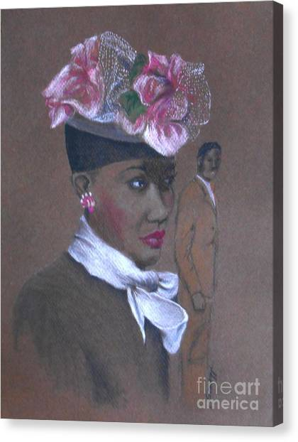 Admirer, 1947 Easter Bonnet -- The Original -- Retro Portrait Of African-american Woman Canvas Print