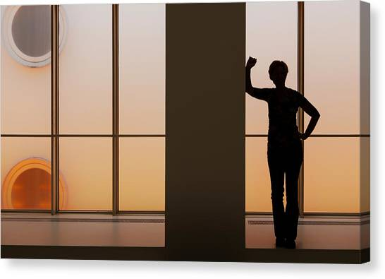 Museums Canvas Print - Admiring The Light by Gerard Jonkman