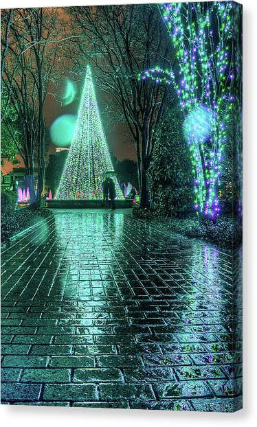 Admiring The Tree Canvas Print