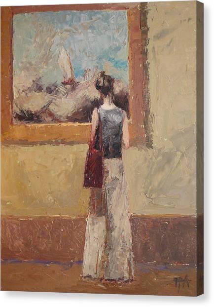 Admiring Turner Canvas Print by Irena  Jablonski