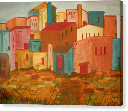 Adobe Village Canvas Print