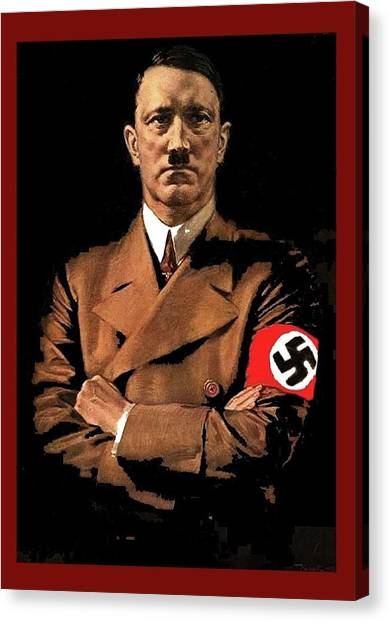 Adolf Hitler Painting Circa  1940 Color Added 2016 Canvas Print