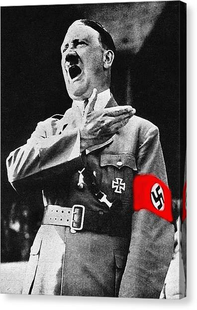 Adolf Hitler Ranting 1  Canvas Print