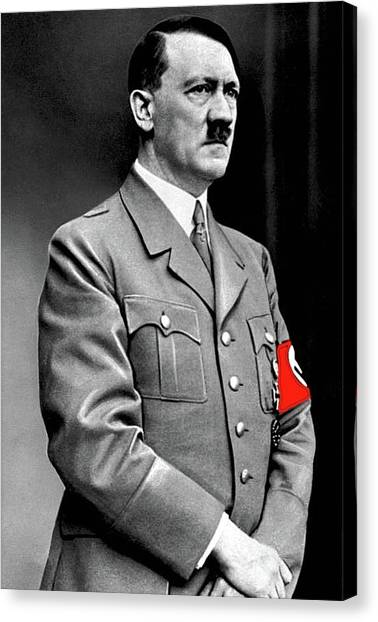 Adolf Hitler The Visionary Circa 1941 Color Added 2016 Canvas Print