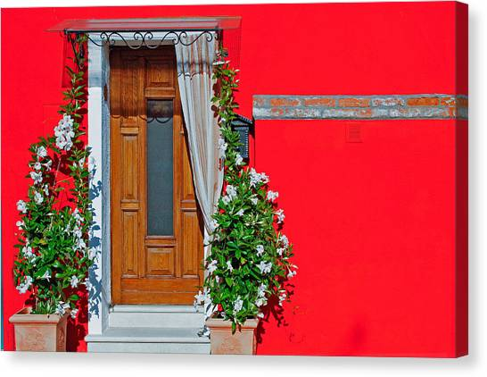 Canvas Print featuring the photograph A-door-ned by Rick Locke