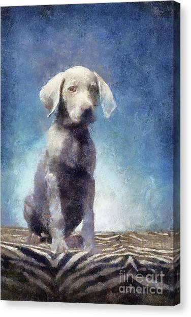 Dalmations Canvas Print - Adorable Puppy Dog by Sarah Kirk