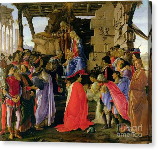 Botticelli Canvas Print - Adoration Of The Magi by Sandro Botticelli
