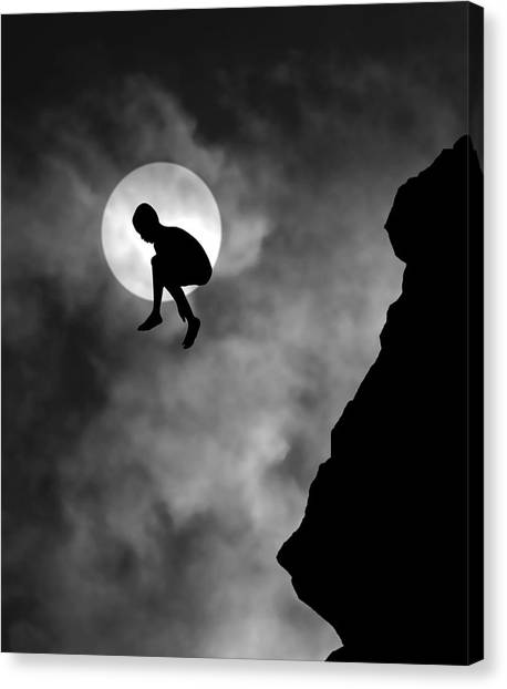 Moon Canvas Print - Adrenaline by Hengki Lee