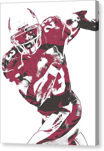 Arizona Cardinals Canvas Print - Adrian Peterson Arizona Cardinals Pixel Art 1 by Joe Hamilton