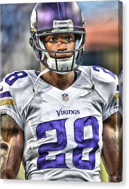 Minnesota Vikings Canvas Print - Adrian Peterson Art 5 by Joe Hamilton
