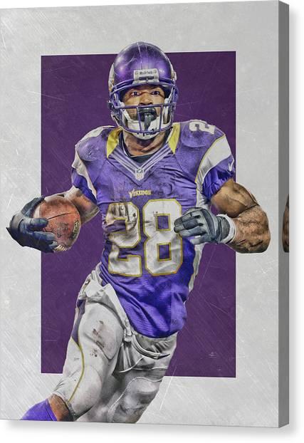 Minnesota Vikings Canvas Print - Adrian Peterson Minnesota Vikings Art 4 by Joe Hamilton