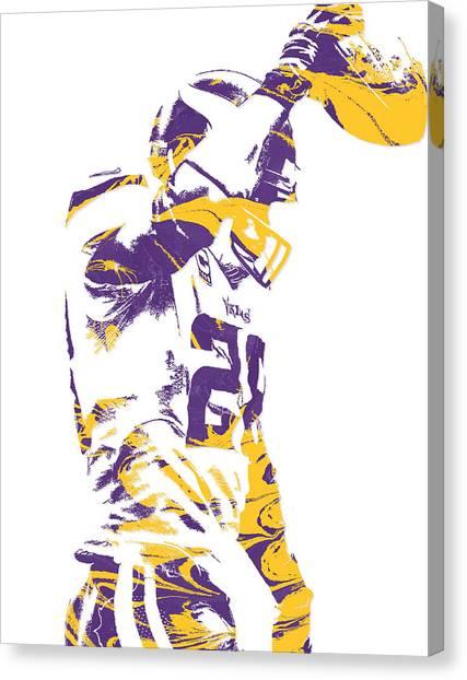 Minnesota Vikings Canvas Print - Adrian Peterson Minnesota Vikings Pixel Art 5 by Joe Hamilton