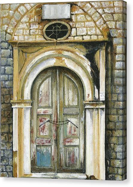 Adrianou Street Canvas Print