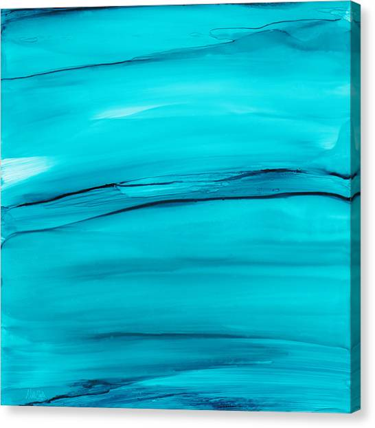 Soothing Canvas Print - Adrift In A Sea Of Blues Abstract by Nikki Marie Smith