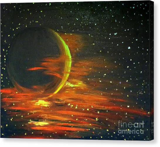 Adrift - In Space Canvas Print