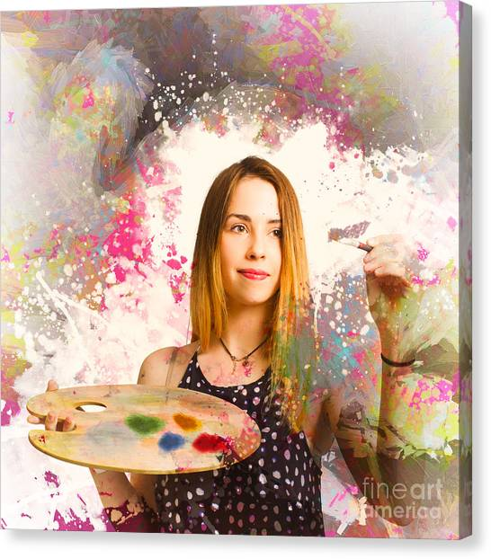Canvas Print featuring the photograph Adult Art Class Painter by Jorgo Photography - Wall Art Gallery