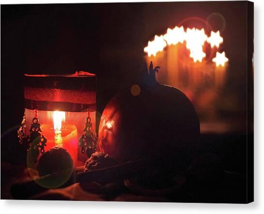 Susann Serfezi Canvas Print - Cozy Advent by AugenWerk Susann Serfezi