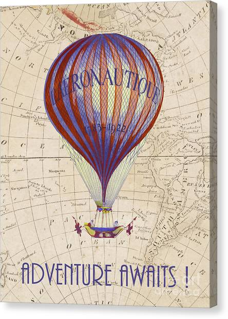 Hot Air Balloons Canvas Print - Adventure Awaits by Delphimages Photo Creations