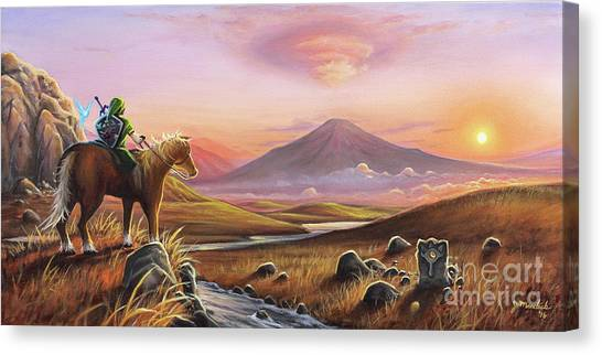 Mountain Sunset Canvas Print - Adventure Awaits by Joe Mandrick