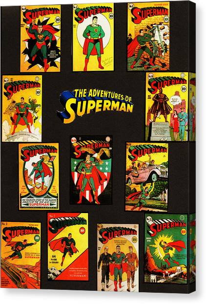 Adventures Of Superman Canvas Print