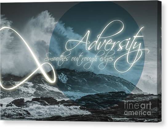 Improve Canvas Print - Adversity Smoothes Out Rough Edges by Jorgo Photography - Wall Art Gallery