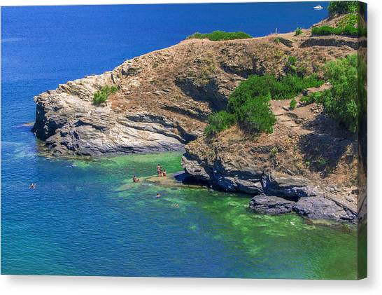 Aegean Coast In Bali Canvas Print