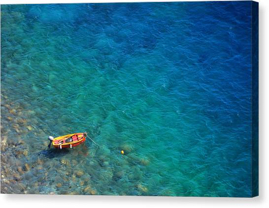 Aegean Sea Canvas Print by Songquan Deng