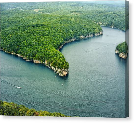 Aerial Image Of  Long Point Cliff Canvas Print