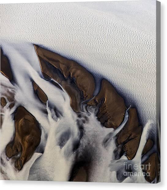 Aerial Photo Thjosa Iceland Canvas Print