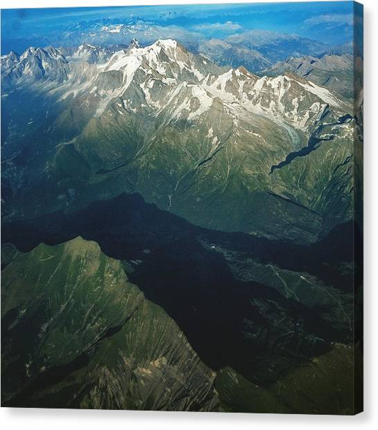 Aerial Photograph Of The Swiss Alps Canvas Print