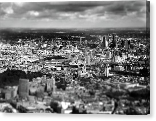 Aerial Canvas Print - Aerial View Of London 6 by Mark Rogan