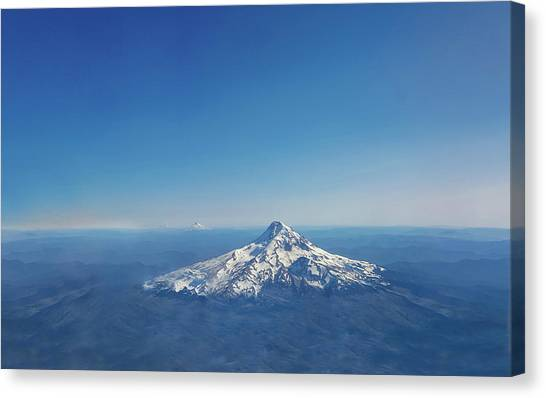 Mount St. Helens Canvas Print - Aerial View Of Snowy Mountain by Art Spectrum
