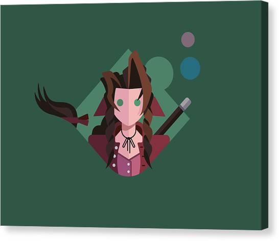 Final Fantasy Canvas Print - Aeris by Michael Myers