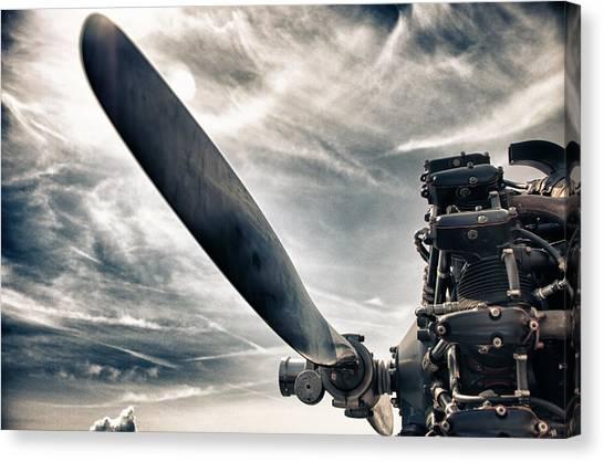 Sky Canvas Print - Aero Machine by Nathan Larson