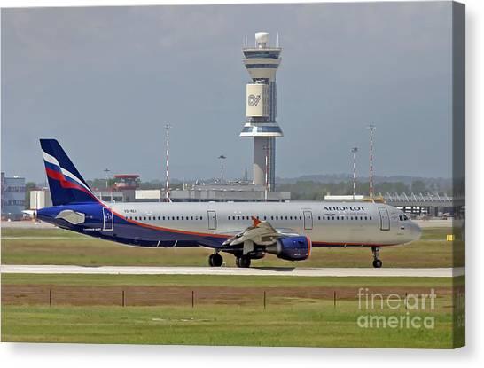 Aeroflot - Russian Airlines Airbus A321-211 - Vq-bei Canvas Print