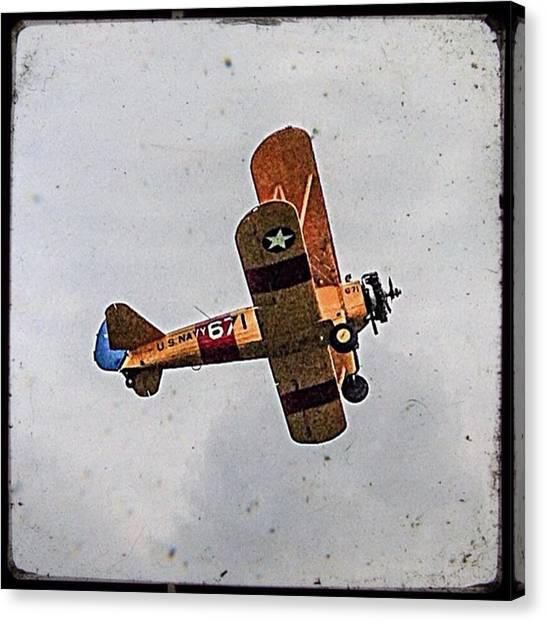 Biplane Canvas Print - #aeroplane #aerobatics #stearman by Sam Stratton