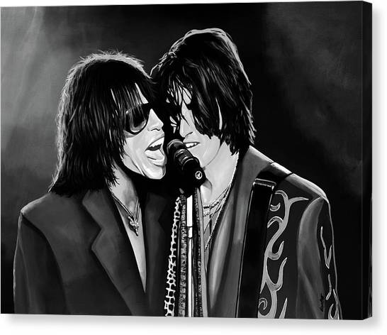 Steven Tyler Canvas Print - Aerosmith Toxic Twins Mixed Media by Paul Meijering