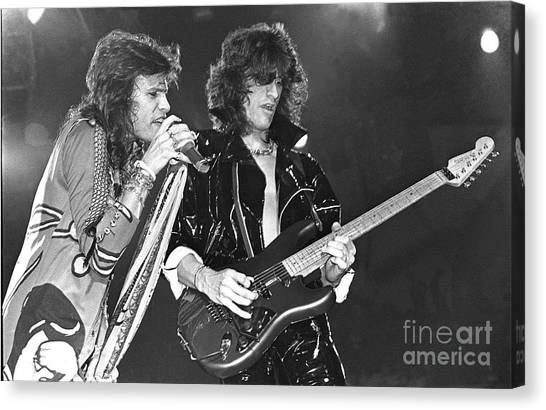 Steven Tyler Canvas Print - Aerosmith Tyler And Perry by Concert Photos
