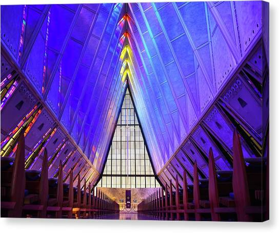 A F A Cadet Chapel Interior Canvas Print