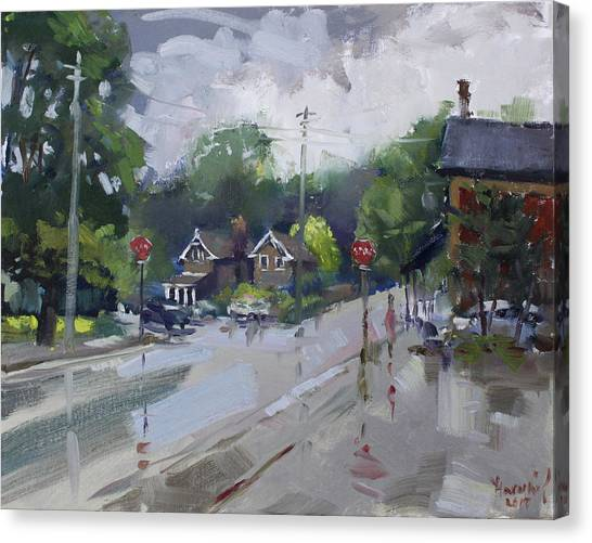 Ontario Canvas Print - Afetr Rain At Glen Williams On by Ylli Haruni