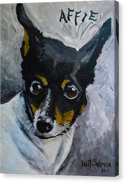 Canvas Print featuring the painting Affie by Jeanette Jarmon