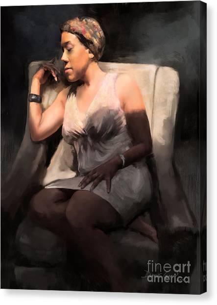 Canvas Print featuring the digital art Affirmation by Dwayne Glapion