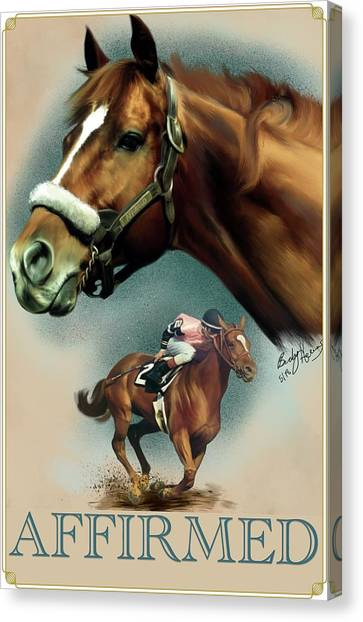 Affirmed With Name Decor Canvas Print