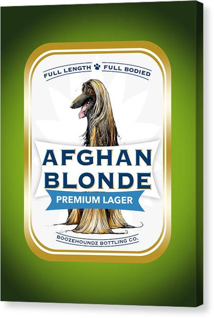 Craft Beer Canvas Print - Afghan Blonde Premium Lager by John LaFree