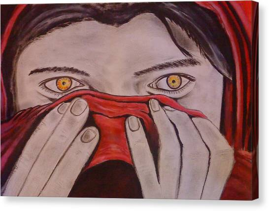 Afghan Girl Canvas Print by Colin O neill
