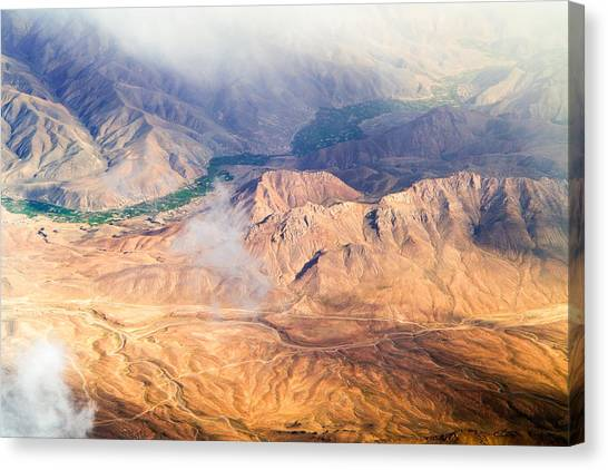 Afghan Valley At Sunrise Canvas Print