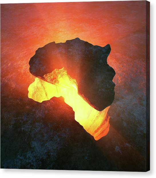 Volcanoes Canvas Print - Africa Conceptual Design by Johan Swanepoel