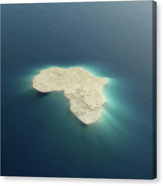 White Sand Canvas Print - Africa Conceptual Island Design by Johan Swanepoel