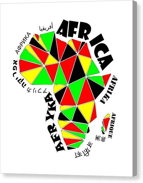 Africa Continent Canvas Print